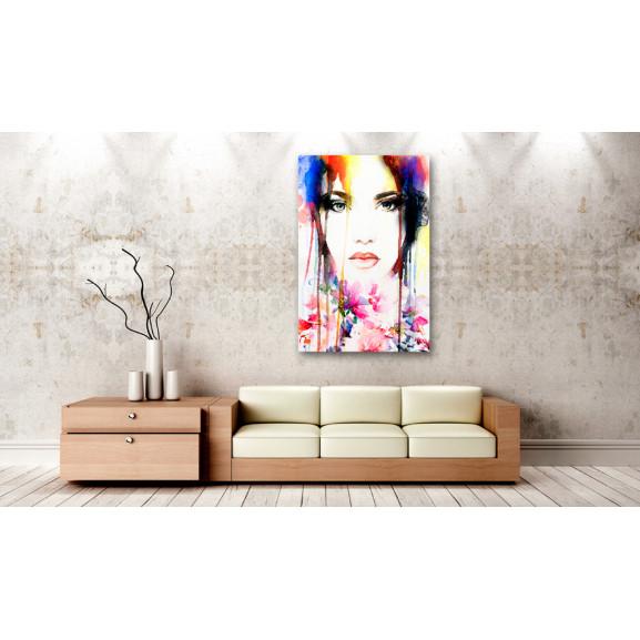 Tablou Colourful Lady 40 cm x 60 cm naturlich.ro