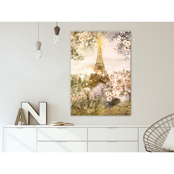 Tablou Summer In Paris (1 Part) Vertical 40 cm x 60 cm naturlich.ro
