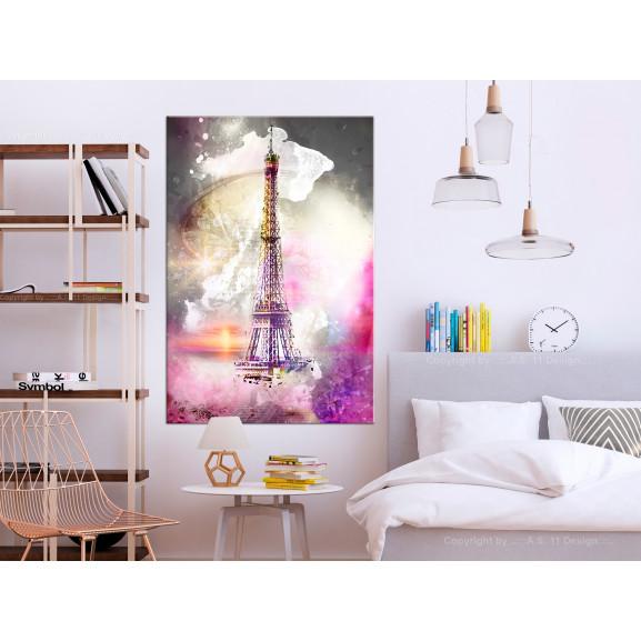 Tablou Fairytale Paris (1 Part) Vertical 40 cm x 60 cm naturlich.ro