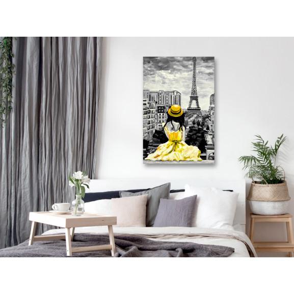 Tablou Paris Colour (1 Part) Vertical Yellow 40 cm x 60 cm naturlich.ro