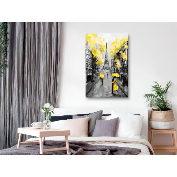 Tablou Paris Rendez-Vous (1 Part) Vertical Yellow 40 cm x 60 cm naturlich.ro
