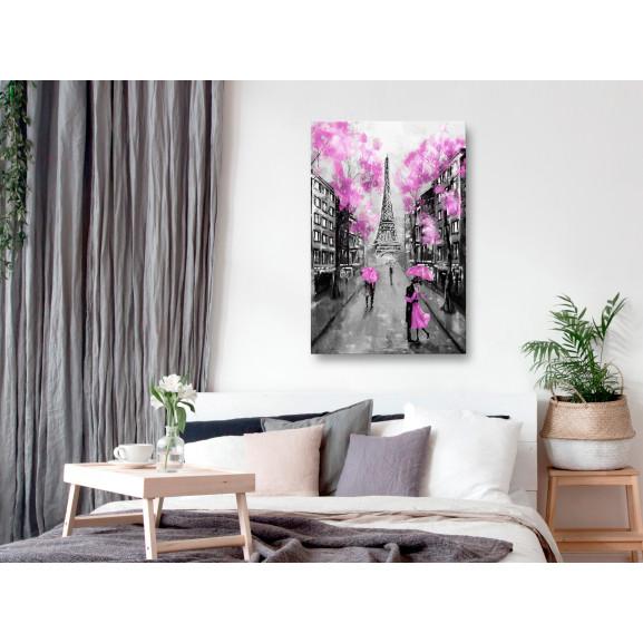Tablou Paris Rendez-Vous (1 Part) Vertical Pink 40 cm x 60 cm naturlich.ro