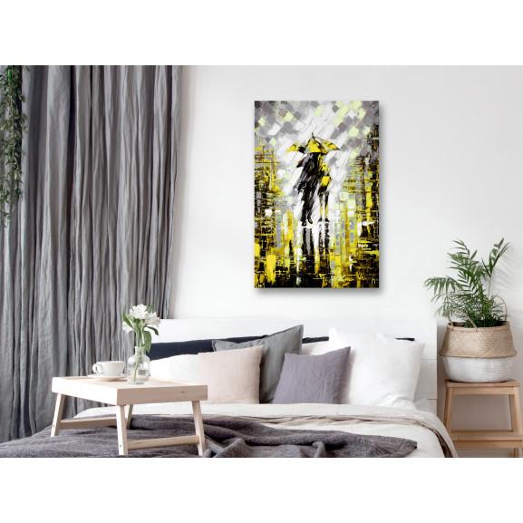 Tablou Lovers In Colour (1 Part) Vertical Yellow 40 cm x 60 cm naturlich.ro