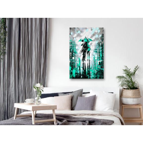 Tablou Lovers In Colour (1 Part) Vertical Green 40 cm x 60 cm naturlich.ro
