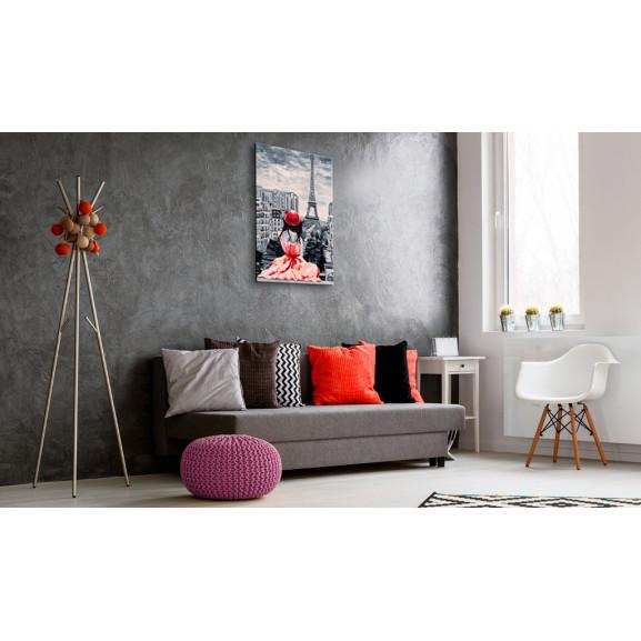 Tablou Romantic Paris 40 cm x 60 cm naturlich.ro