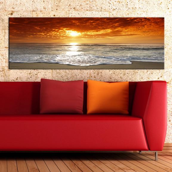 Tablou Romantic Sunset 135 cm x 45 cm naturlich.ro