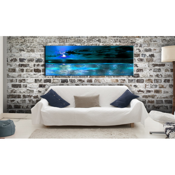 Tablou Sapphire Ocean 120 cm x 40 cm naturlich.ro