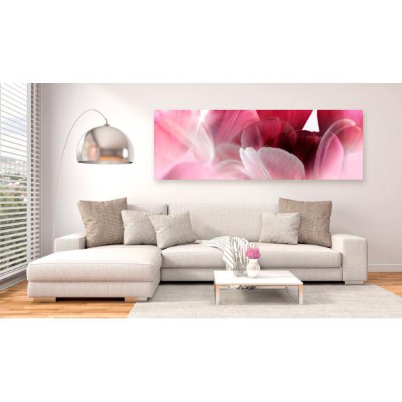 Tablou Flowers: Pink Tulips 120 cm x 40 cm naturlich.ro
