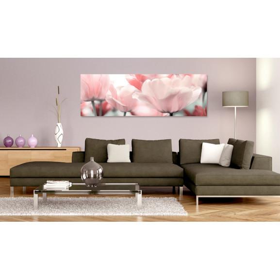 Tablou Pink Tulips 120 cm x 40 cm naturlich.ro