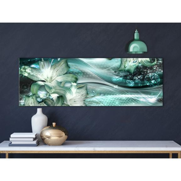 Tablou Emerald Dream (1 Part) Narrow 120 cm x 40 cm naturlich.ro