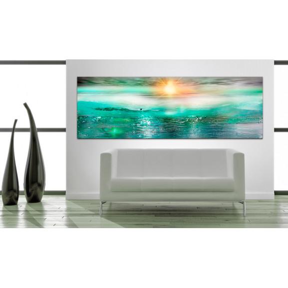 Tablou Sapphire Sea 120 cm x 40 cm naturlich.ro