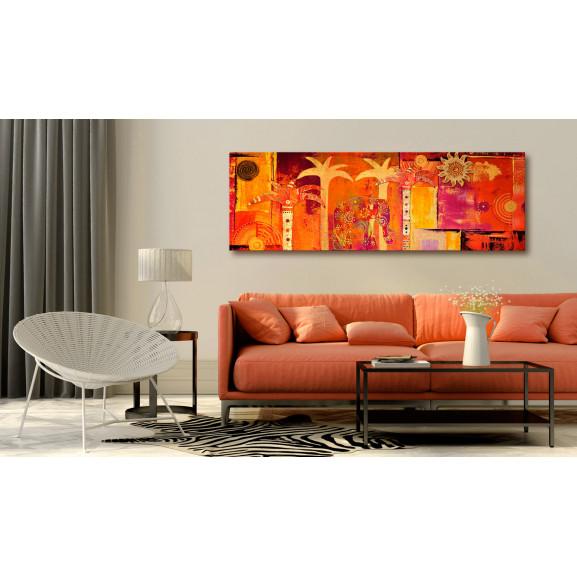 Tablou African Collage 120 cm x 40 cm naturlich.ro