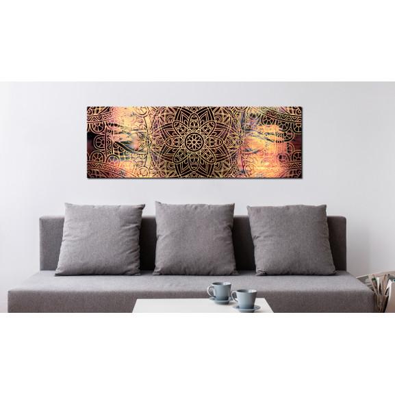 Tablou Mandala: Sunny Poetry 120 cm x 40 cm naturlich.ro
