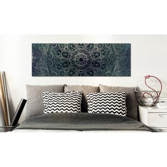 Tablou Mandala: Malachite Calm 120 cm x 40 cm naturlich.ro