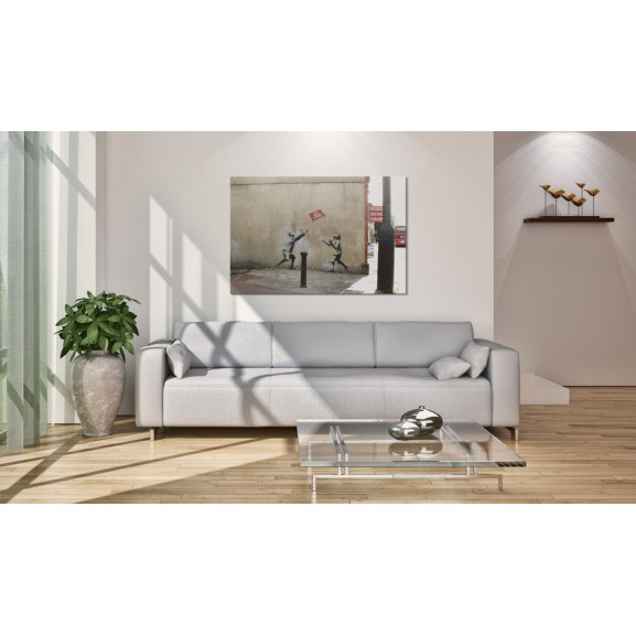 Tablou No Ball Games (Banksy) 60 cm x 40 cm naturlich.ro