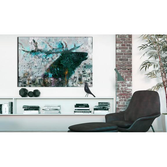 Tablou Sapphire Deer 60 cm x 40 cm naturlich.ro