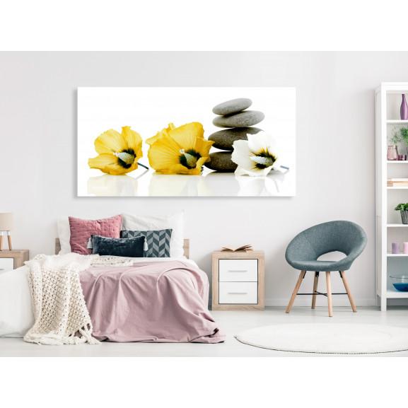 Tablou Calm Mallow (1 Part) Yellow 120 cm x 60 cm naturlich.ro