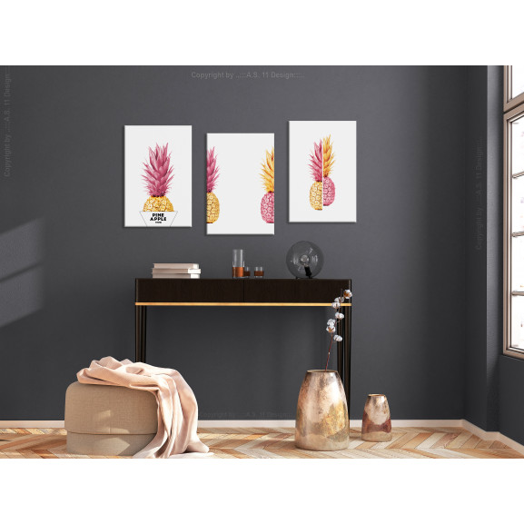 Tablou Pineapples (Collection) 120 cm x 60 cm naturlich.ro