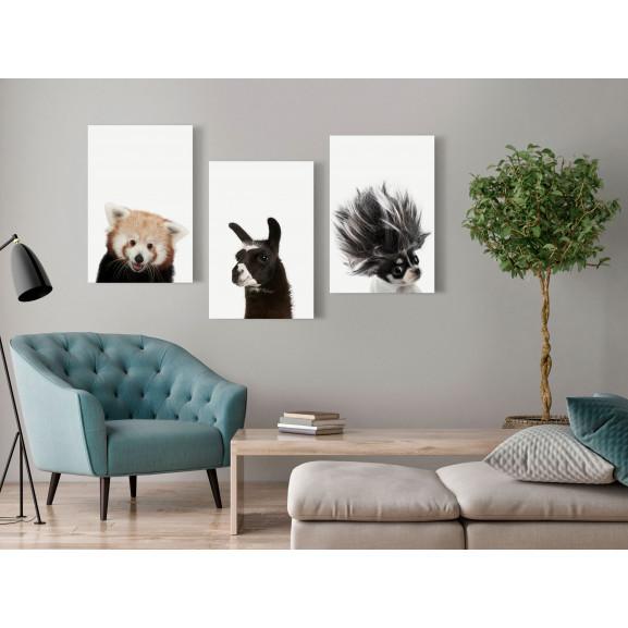 Tablou Friendly Animals (Collection) 120 cm x 60 cm naturlich.ro