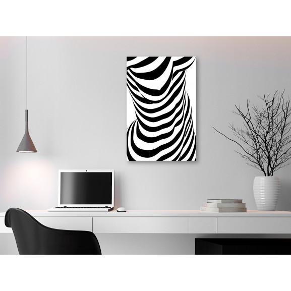 Tablou Zebra Woman (1 Part) Vertical 40 cm x 60 cm naturlich.ro
