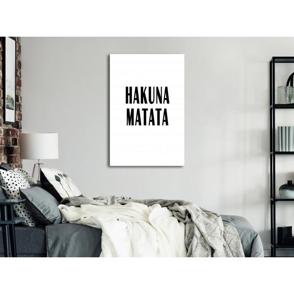 Tablou Hakuna Matata (1 Part) Vertical 40 cm x 60 cm naturlich.ro
