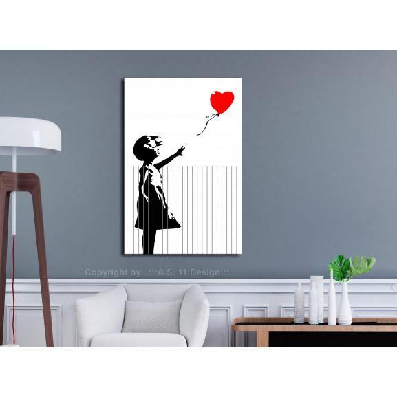Tablou Cut Banksy (1 Part) Vertical 40 cm x 60 cm naturlich.ro