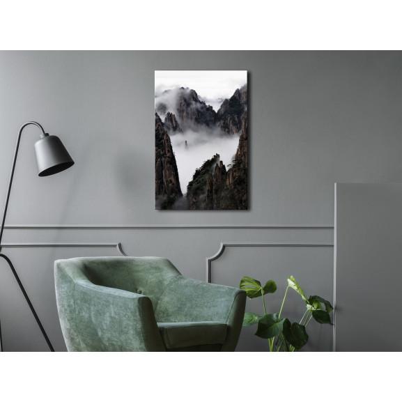 Tablou Fog Over Huang Shan (1 Part) Vertical 40 cm x 60 cm naturlich.ro