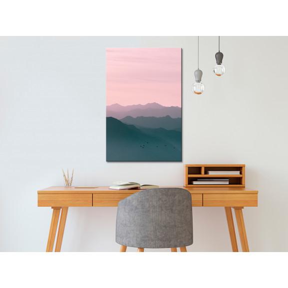 Tablou Mountain At Sunrise (1 Part) Vertical 40 cm x 60 cm naturlich.ro