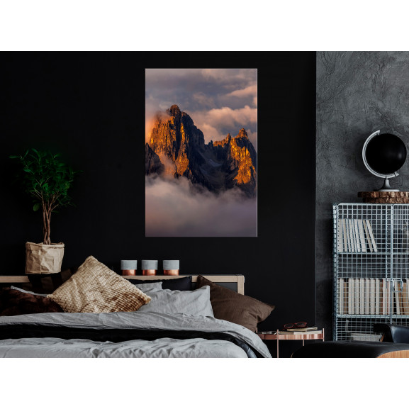 Tablou Mountains In The Clouds (1 Part) Vertical 40 cm x 60 cm naturlich.ro