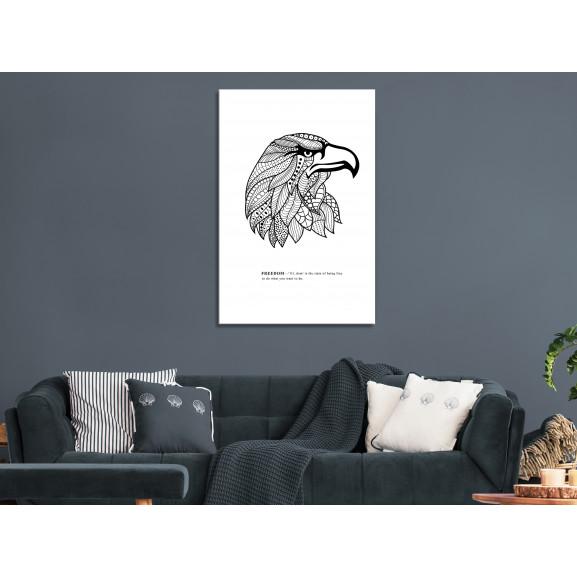 Tablou Eagle Of Freedom (1 Part) Vertical 40 cm x 60 cm naturlich.ro