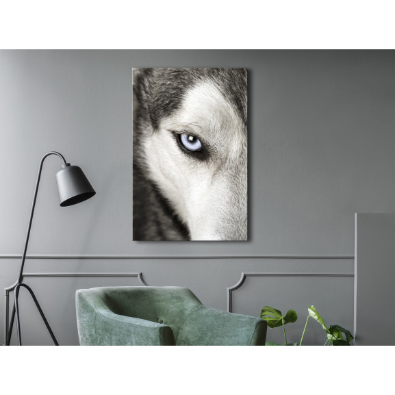Tablou Dog'S Look (1 Part) Vertical 40 cm x 60 cm naturlich.ro