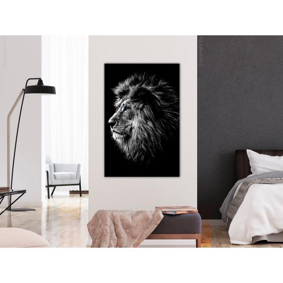 Tablou Blue-Eyed Lion (1 Part) Vertical 40 cm x 60 cm naturlich.ro