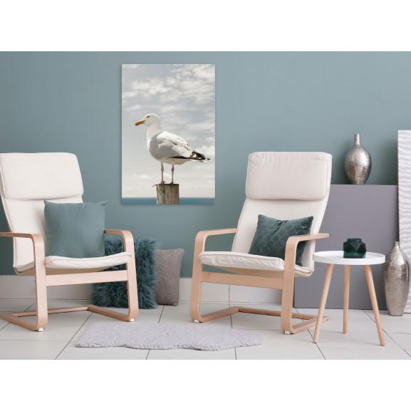 Tablou Seagull (1 Part) Vertical 40 cm x 60 cm naturlich.ro