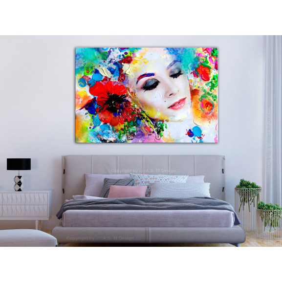 Tablou Colourful Thoughts (1 Part) Wide 120 cm x 80 cm naturlich.ro
