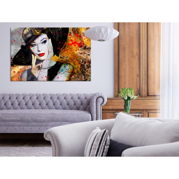 Tablou Elegant Lady (1 Part) Wide 120 cm x 80 cm naturlich.ro