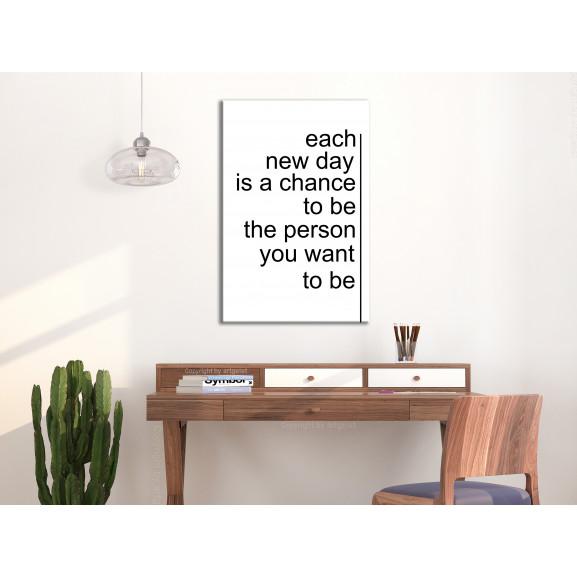 Tablou Inspirational Quotes (1 Part) Vertical 40 cm x 60 cm naturlich.ro