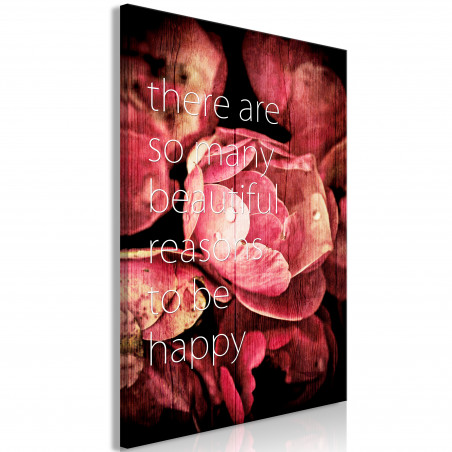 Tablou There Are So Many Beautiful Reasons To Be Happy (1 Part) Vertical 40 cm x 60 cm-01