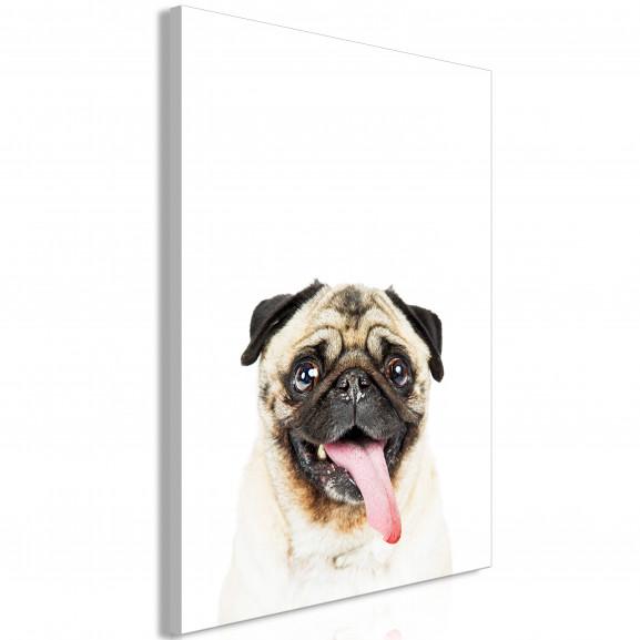 Tablou Pug (1 Part) Vertical 40 cm x...