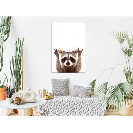 Tablou Raccoon (1 Part) Vertical 40 cm x 60 cm-01