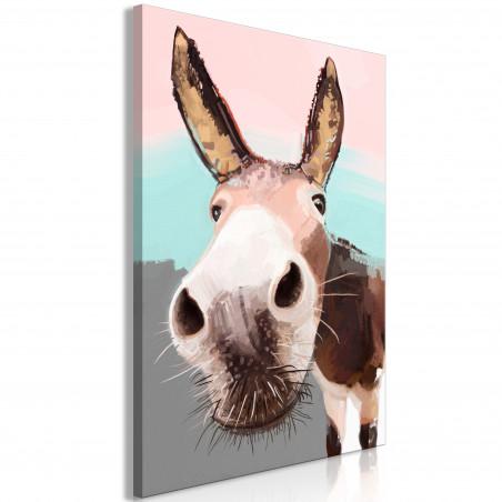 Tablou Curious Donkey (1 Part) Vertical 40 cm x 60 cm-01