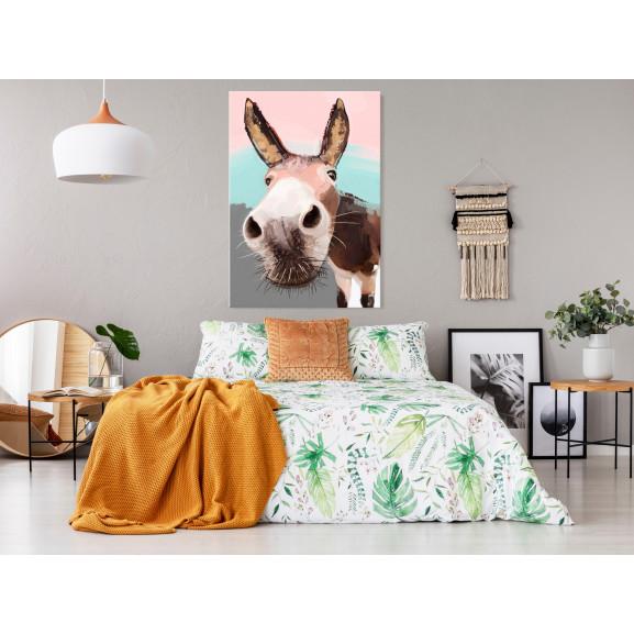 Tablou Curious Donkey (1 Part) Vertical 40 cm x 60 cm naturlich.ro