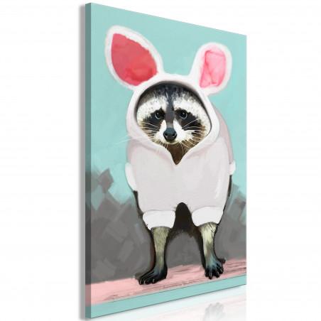 Tablou Raccoon Or Hare? (1 Part) Vertical 40 cm x 60 cm-01