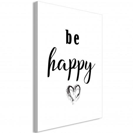 Tablou Be Happy (1 Part) Vertical 40 cm x 60 cm-01