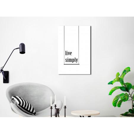Tablou Minimalistic Motto (1 Part) Vertical 40 cm x 60 cm-01