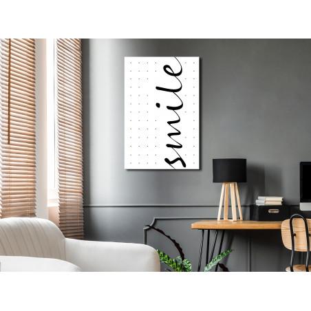 Tablou Black And White: Smile (1 Part) Vertical 40 cm x 60 cm-01