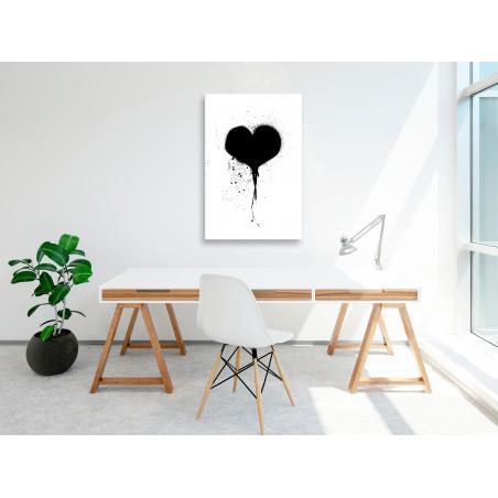 Tablou Destroyed Heart (1 Part) Vertical 40 cm x 60 cm-01