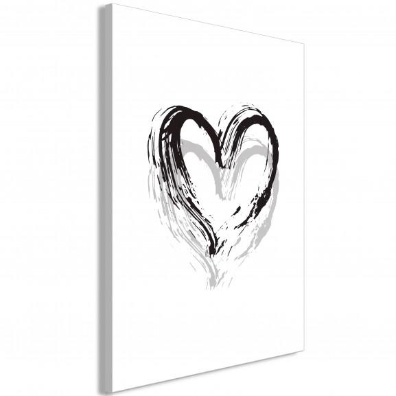 Tablou Brush Heart (1 Part) Vertical...