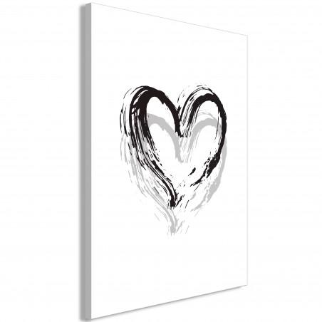 Tablou Brush Heart (1 Part) Vertical 40 cm x 60 cm-01