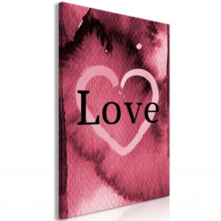 Tablou Burgundy Love (1 Part) Vertical 40 cm x 60 cm-01