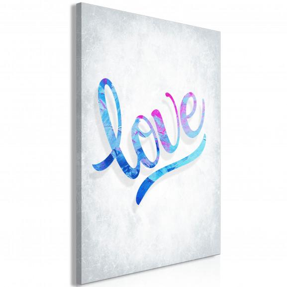 Tablou Love (1 Part) Vertical 40 cm x...